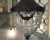 French Beaded Pendant Chandelier