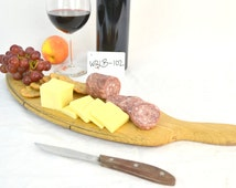 SERVING TRAY -- Wine Barrel Head Cutting Board -100% recycled