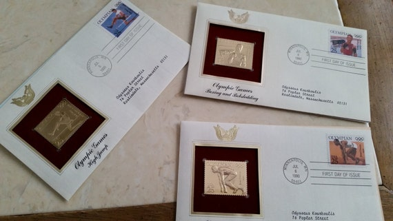 Gold Replicas of United States Stamps United States Stamps Proof