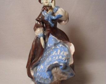 Antique Chalkware or Chalk Lady Figurine