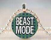 Beast Mode - Seahawks Seattle football- penny pendant handmade by Charmed Pennies