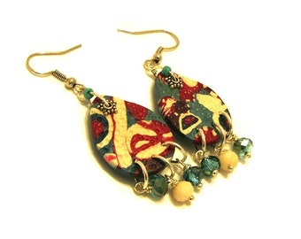 Dangle Earrings / Summer Earrings / Polymer Jewelry