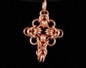 Non-Tarnish Copper Celtic Cross Pendant
