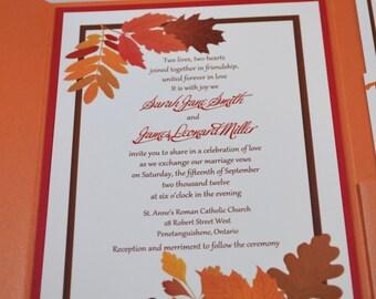 Printable PDF Fall Wedding Invitations for the DIY Bride