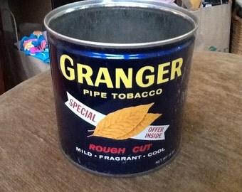 Vintage GRANGER Pipe Tobacco Tin