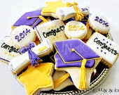 Graduation Cookies - Graduation Cap, Diploma  1 Dozen