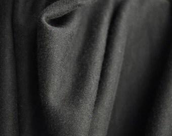 "Organic Interlock, Black, 60"" wide, 100% Organic Cotton"