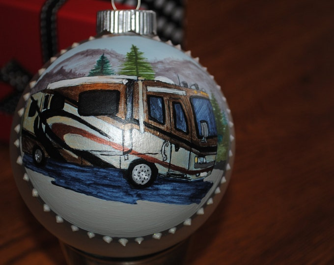 Custom Hand Painted Ornament Great Gift giving idea