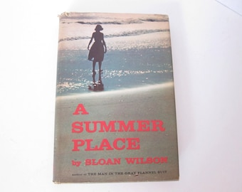 Vintage Book A Summer Place Summer Fiction Beach Fiction Beach Book Romance Book Summer Reading Movie Book Classic Love Story On Sale  J5