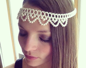 Elegant Pearl Headpiece Boho Chic Headband