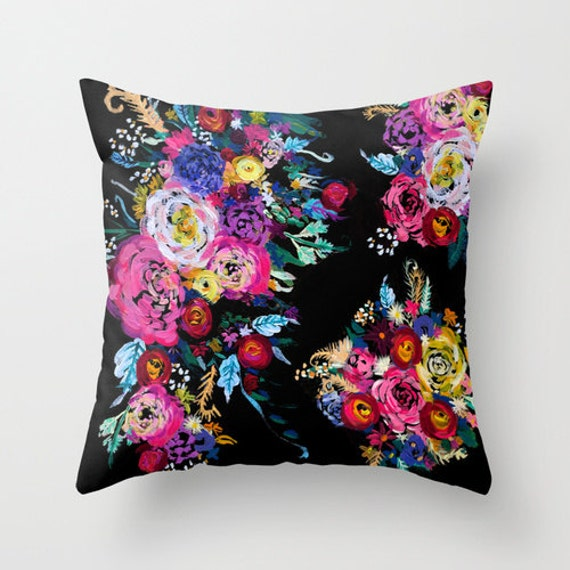 Like this item? & Bright Floral Arrangement Painting Design Fabric Pillow Cover pillowsntoast.com
