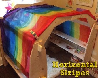 Rainbow Silk Playstand Canopy Silkscape Playsilk Veil ~ Hand Dyed ~Waldorf Inspried & Canopy | Etsy