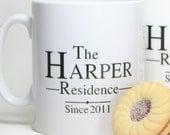 Personalised 'Residence' Mug
