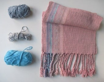 Handwoven Scarf with Natural Fibers
