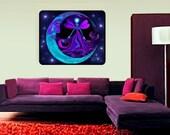 "Huge Energy Healing Chakra Art Reiki Tapestry ""The Mystic"" 40"" x 50"""