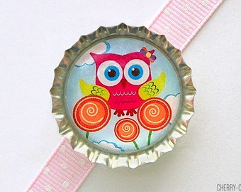 Owl Magnet, Bottle Cap Magnet, secret santa gift fridge magnet owl baby shower favor girl owl party favor unique stocking stuffer, owl decor