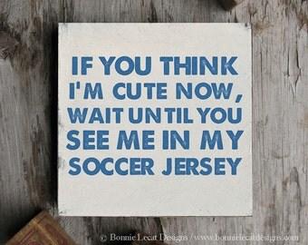 Soccer Sign, Sports Wall Decor, Soccer Baby Shower Gift, Soccer Wall Art, Soccer Wood Sign, Sports Gift Idea, Soccer Party Gift Idea