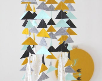 Tribal Feather / Arrow Baby Mobile- U Pick Colors