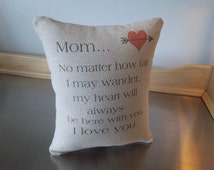 Gift for Mom birthday gift mom pillow love quote throw pillow sentimental I love you mom gift thank you gift cotton canvas home decor