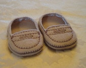 "18"" Doll Shoes - Light Brown Penny Loafers"