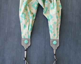 LAST CALL SALE - scarf camera strap - a touch of tribal