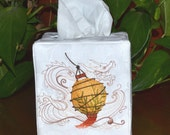 Asian Lantern Tissue Box Cover
