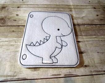 t rex dinosaur reusable coloring page felt coloring page vinyl coloring page