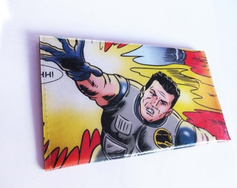 Action Man Coin Wallet - Recycled Book Page in Vinyl