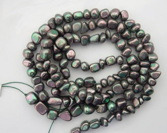 Mystic  Pyrite  Nugget beads ,Rainbow pyrite(6-10mm)