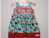 SALE Cupcake Dress - Size 12-18 M months and Size 4 4T