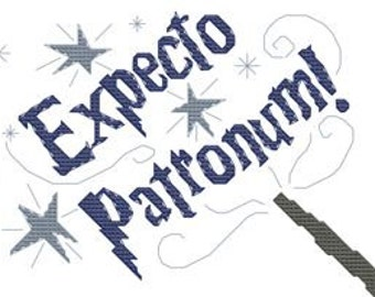 Expecto Patronum! Wizard-inspired cross stitch pattern .pdf chart