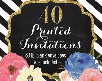 Invitation Printing - Set of 40 - 5x7