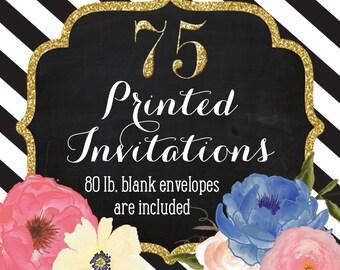 Invitation Printing - Set of 75 - 5x7