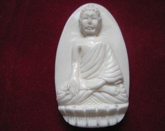 Hand carved bone Buddha Lovely