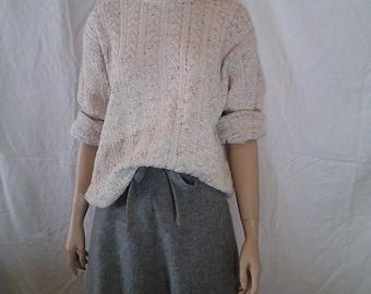 80's Reba Rose Oatmeal Cotton Sweater