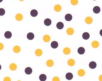 Fabric Finders Purple and Gold Dot
