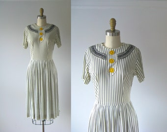 vintage 1930s dress / 30s dress / My Adeline