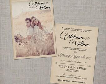 "Wedding Invitations / Wedding guest invitations / Wedding Invitation / Wedding Invites / Wedding invitation ideas  - the ""Melania"""