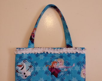Easter Bag/ToteFrozen bag with ruffle---Handmade Frozen Tote