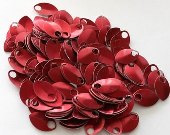 200 Red Anodized Aluminum Scales Leaves