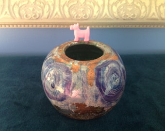 J R Grossman Glazed Pottery Vase