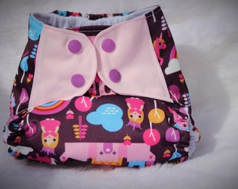 Girls one size pocket diaper