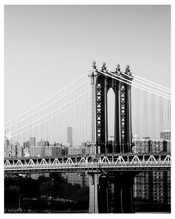Art, Photography, New York, Landscape, Manhattan Bridge, Travel Image, NYC, Print