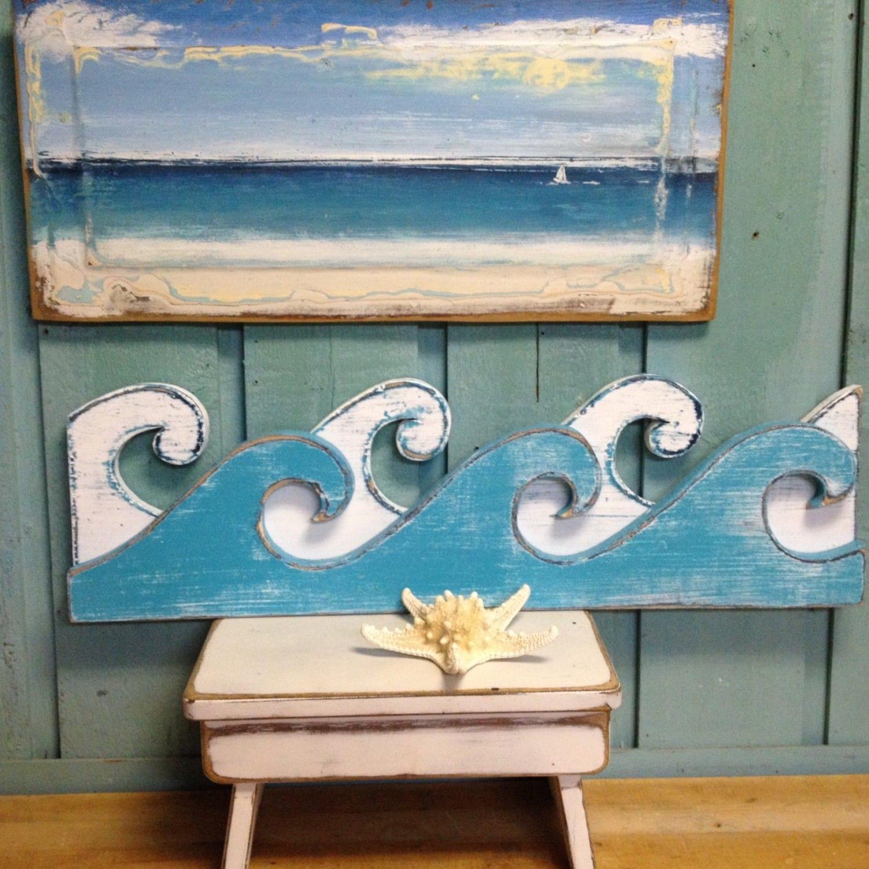Waves Sign Wall Art Beach House Decor By CastawaysHall