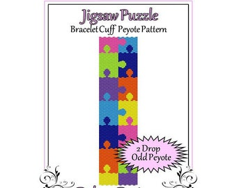 Bead Pattern Peyote(Bracelet Cuff)-Jigsaw Puzzle