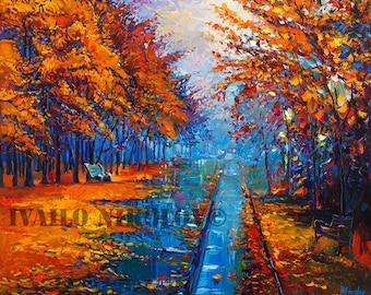Landscape Painting, Art, Large Art, Canvas Art, Wall Art, Abstract Art, Large Painting, Oil Painting, Abstract Painting, Autumn Painting