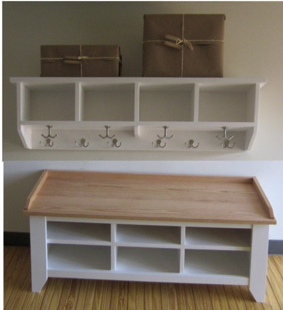 Entryway Bench With Storage And Hooks