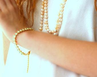 Mint Bracelet,Swarovski bracelet,Mint Crystal Tennis Bracelet,Dainty Crystal bracelet.Bridal Bracelet,Bridesmaid bracelets,Mint Opal Jewelry