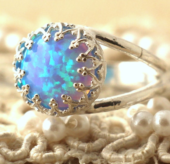 Items Similar To Opal Ring Exquisite Braided Opal: Items Similar To Opal Ring,Silver Opal Ring,Gift For Her