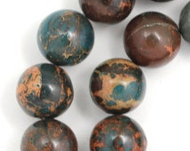 "African ""Opal"" Beads - 14mm Round - Half Strand"